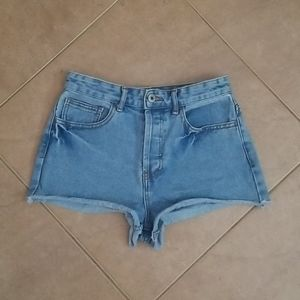 Forever 21 Highrise Button Fly Jean Shorts